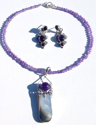 M.O.P and Amethyst Pendant