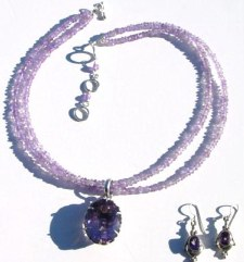 Double Strand Amethyst Rondels