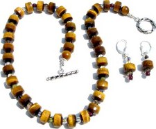 Tiger Eye Necklace with mix Stones
