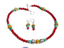 Carnelian and YellowTurquoise