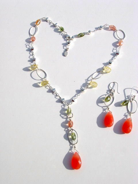 Mix quartz Necklace Set