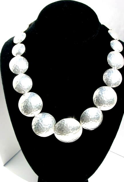 Fine Silver Disc Necklace N_SLV101905          $275.00