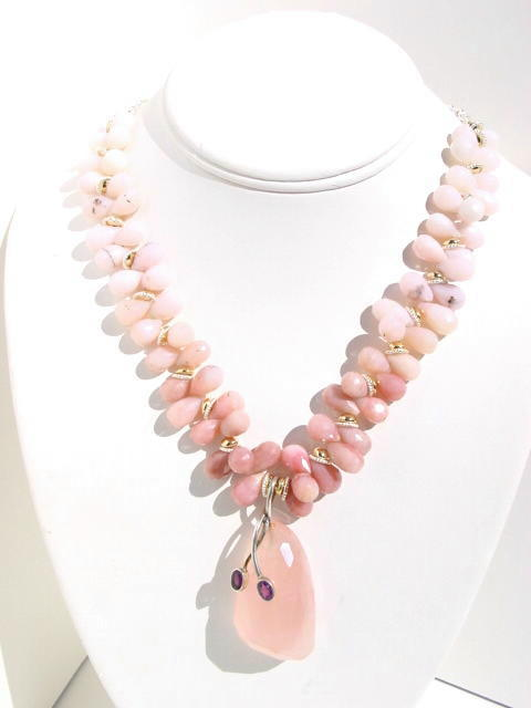 Pink Opal Necklace N_PPAL101905    $245.00