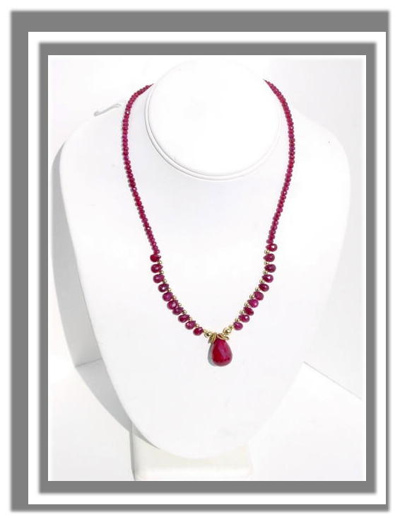 Ruby Necklace N_RUBY 32906      $155.00