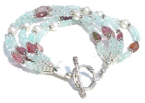 Blue Topaz and Tourmaline Bracelet B_BLTB41306         $55.00