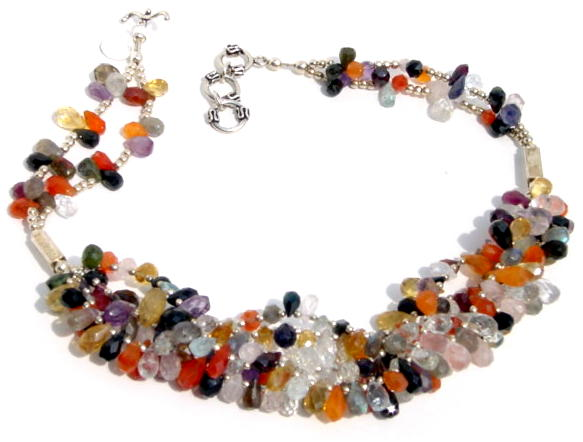 Multimix Gemstone Necklace N_MIX52106        $175.00
