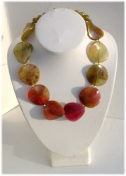 Mix Color Jade Beaded Necklace.JPG MIXJADE906        $95.00