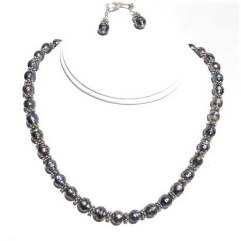 Faceted Freshwater Pearls Necklace.JPG FFPN092906         $65.00