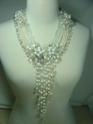 Rock Crystals and Pearls Necklace Set N_RCP010607          $675.00