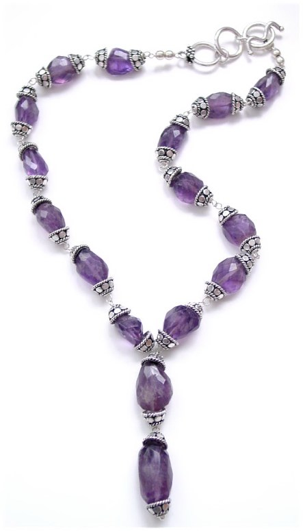 Amethyst Nuggets Necklace N_ANN12207          $110.00