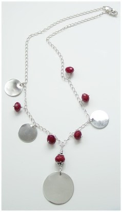 Silver Disc Necklace  N_SSD12207           $65.00