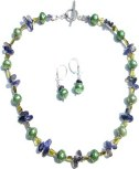Green Pearls and Iolite