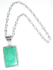 Modern Turquoise Pendant .925 Sterling Silver  P_MTPSS13007              $125.00