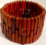 Natural wood Stretch Bracelet B_COCO1703     $20.00
