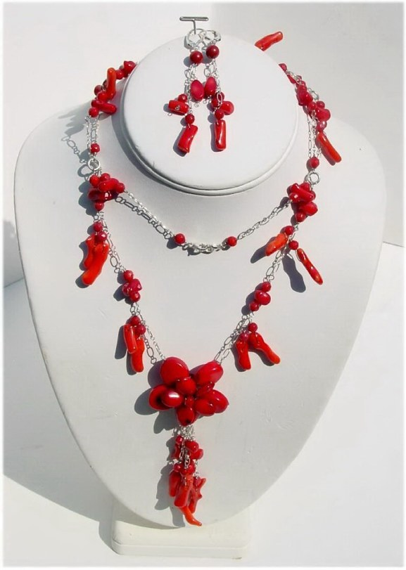 Coral Necklace Set N_CORAL91907            $110.00