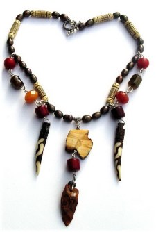 Ethnic Ivory and fossill Necklace.jpg