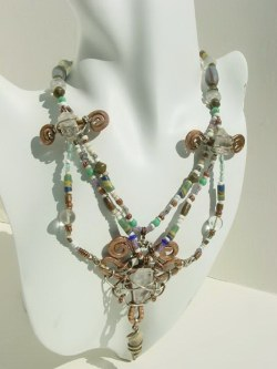 African Trade Beads Necklace.JPG