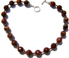 Genuine Poppy Jasper necklace