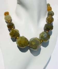 Hand Knotted Agate Necklace