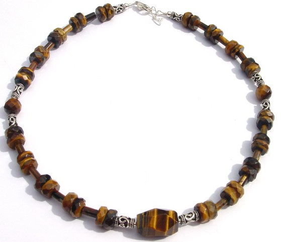 MenTiger Eye Necklace