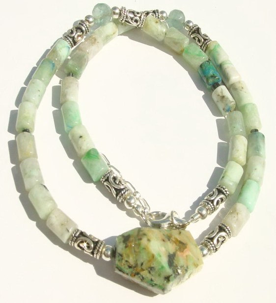 Men Chrysocolla Necklace