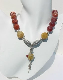 Handcrafted Fire Agate Necklace CBDN741024.JPG