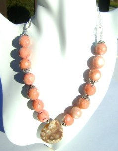 Salmon Coral Necklace