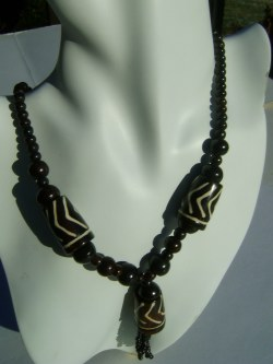 beautiful batik bone Necklace