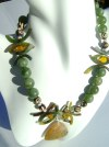 African Jade and Agate Necklace