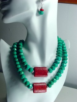 Bold Turquoise Necklace Set N_BTC32711      $85.00