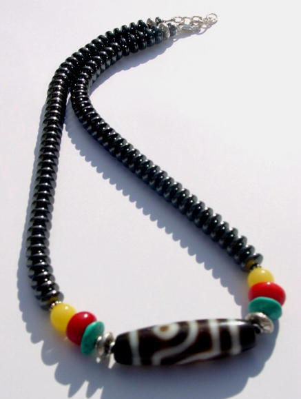 Hematite Rasta Necklace
