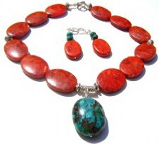Handcrafted Coral Necklace Set