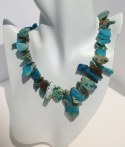 African Turquoise Slab Necklace
