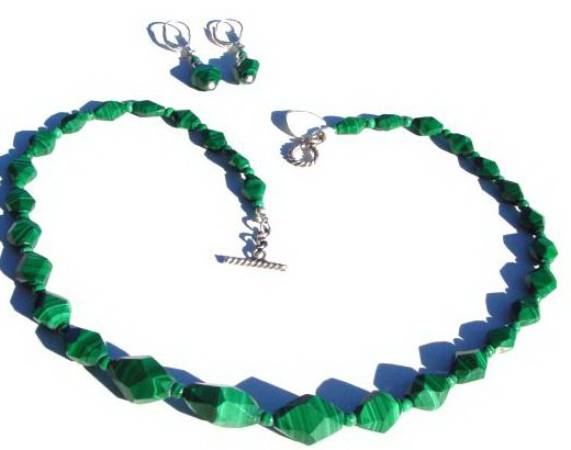 Malachite Necklace Set