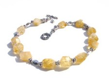 Citrine Nugget Necklace