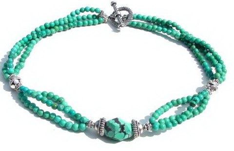Turquoise Tripple Strands Necklace