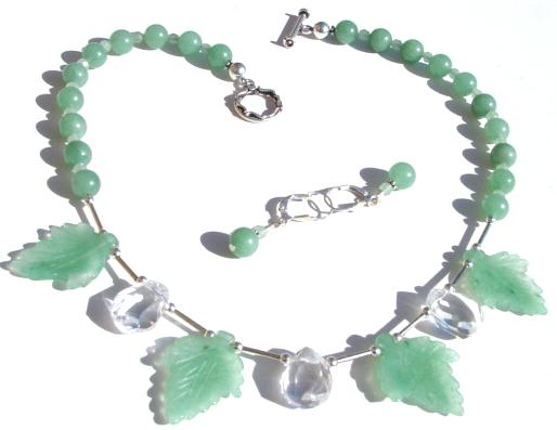 Adventurine Leaf Necklace